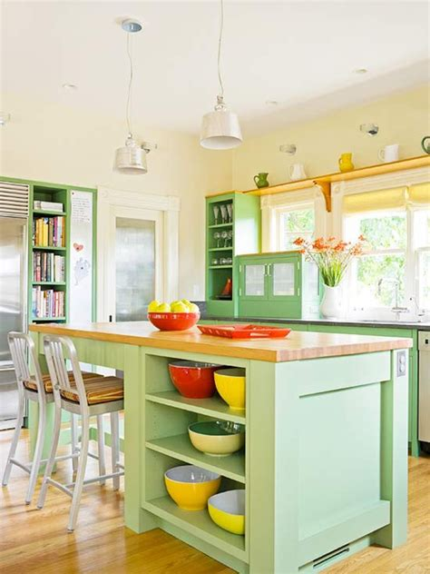bright kitchen painted cabinet