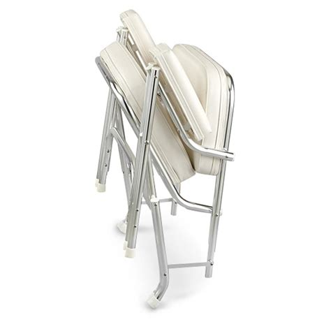 guide gear deluxe folding boat deck chair 623191