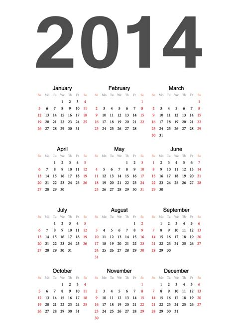 calendar 2014 15 free vector graphic