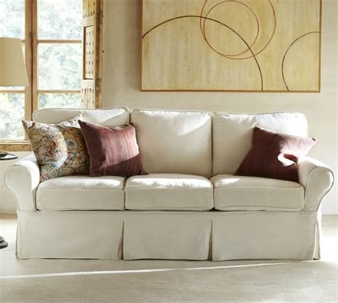slipcovered sofas for sale sale pb basic slipcovered sofa collection pottery barn