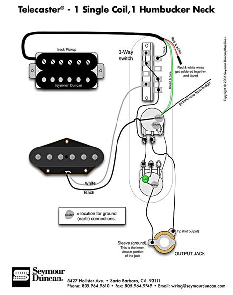 tele wiring diagram 1 single coil 1 neck humbucker my