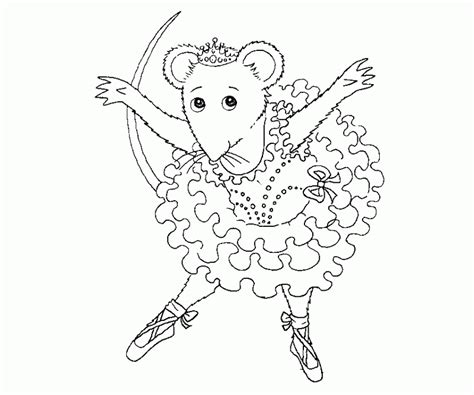 coloring pages of angelina ballerina angelina ballerina coloring page coloring home
