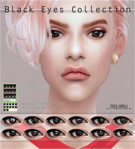 sims 4 cc sclera contact tifa sims black eyes collection sims 4 downloads