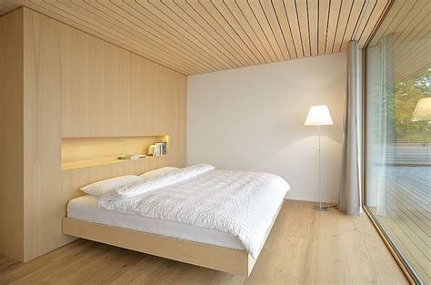 Modern Master Bedroom Ideas stunning mountain views and a wood clad interior shape
