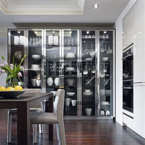 Glass Cabinet For Kitchen 15 Charming Kitchen Designs With Glass Cabinets Rilane