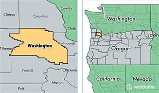 washington oregon map washington county oregon map of washington county or