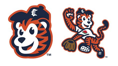 Kaos Baseball Detroit Tiger Logo 3 ct tigers unveil new alternate logos milb