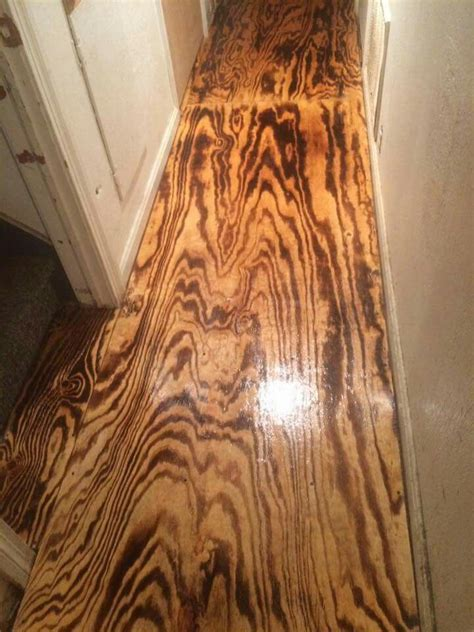 Plywood doors: wood burnt with a torch. Polyurethane
