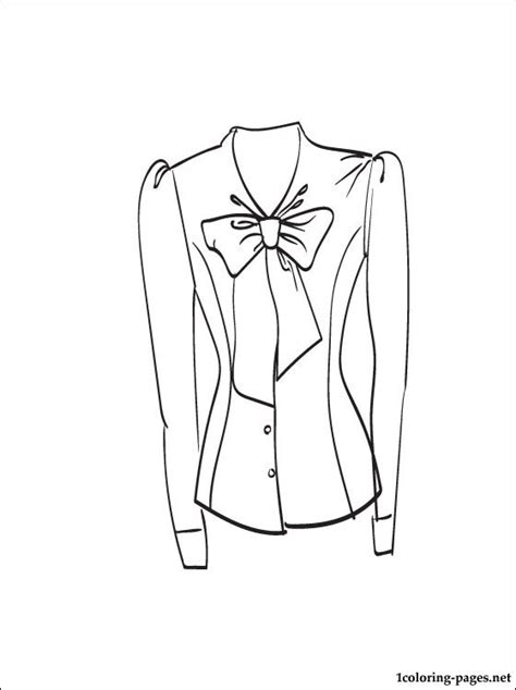 dress shirt coloring page blouse coloring and printable page coloring pages
