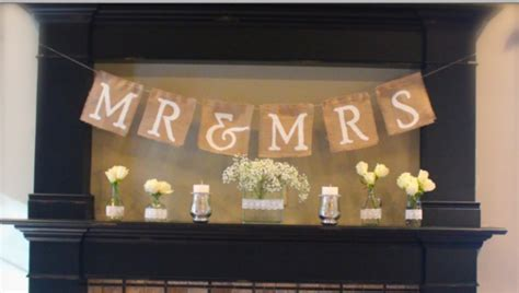 Make Wedding Banner by How To Make A Mr Mrs Burlap Banner Rustic Wedding Chic