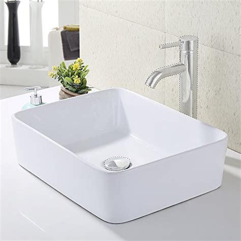 Bathroom Vanity For Bowl Sink by Kes Bathroom Rectangular Porcelain Vessel Sink Above