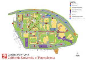 california of pennsylvania map parking options