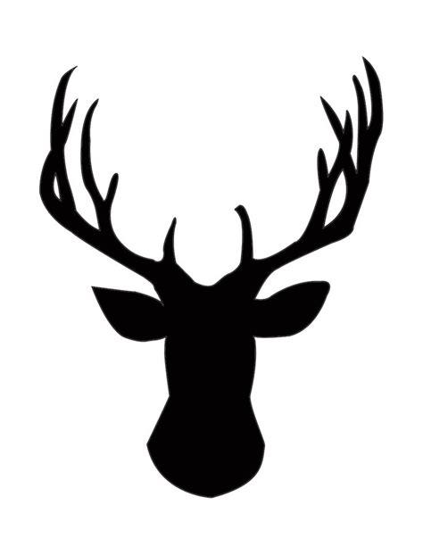 printable reindeer head diy gold foil deer head silhouette deer head silhouette