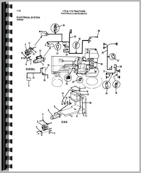 allis chalmers parts diagram allis chalmers 175 tractor parts manual