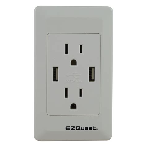 in wall usb charger ezquest n charge usb wall outlet charger