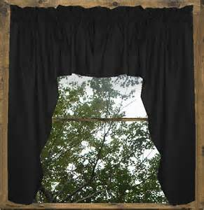 Black Valance Solid Black Colored Swag Window Valance Optional Center