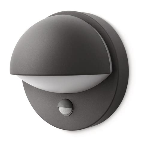 Philips Outdoor Light Philips June Outdoor Wall Light With Pir Sensor Grey