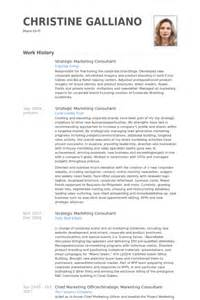 strategic marketing consultant resume sles visualcv