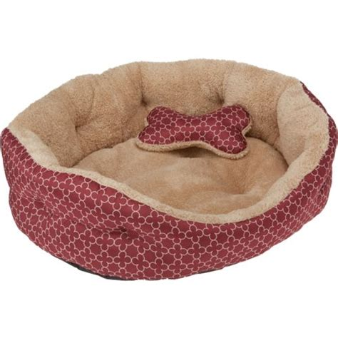 toy dog bed magellan outdoors small 2 piece dog bed and plush bone