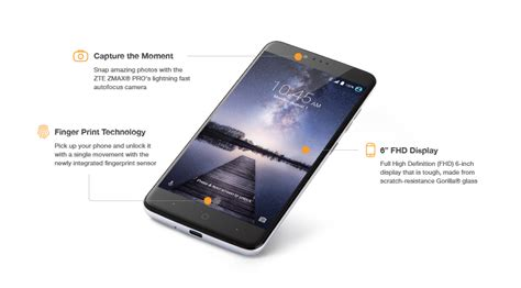 Android Z981 by New Unlocked Zte Z981 Zmax Pro Gsm Android 6 0 1 Lte