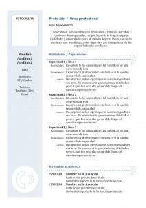 Plantilla De Un Curriculum Empresarial modelos de curr 237 culum modelo combinado 3 modelo curriculum