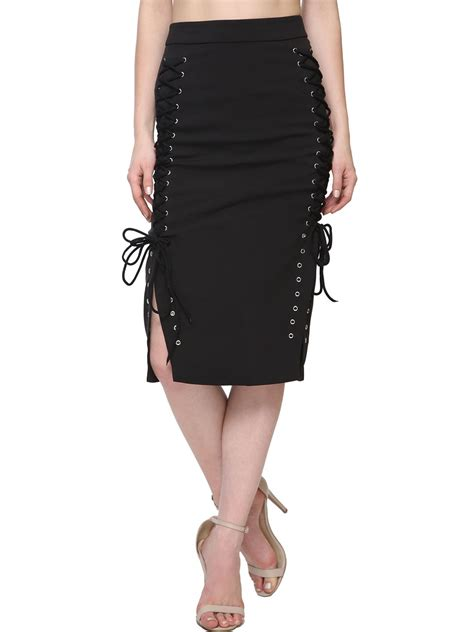 Lace Up Pencil Skirt buy lavish lace up side pencil skirt for