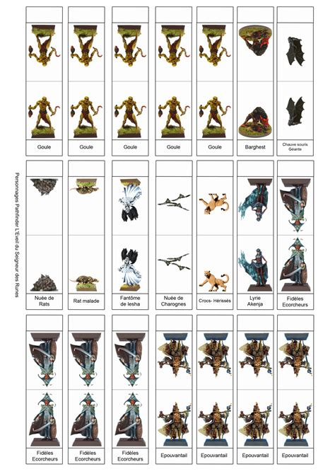 printable paper miniatures d d printable dungeons and dragons miniatures bing images