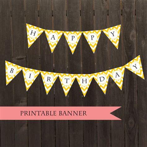 Diy Banner 1 printable yellow chevron banner pennant diy bunting birthday banner baby shower decor bunting