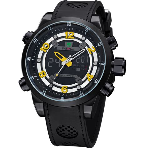 Sports 30m Water Resistance Wh3315 Jam Tangan P Murah weide jam tangan analog digital wh3315 black yellow