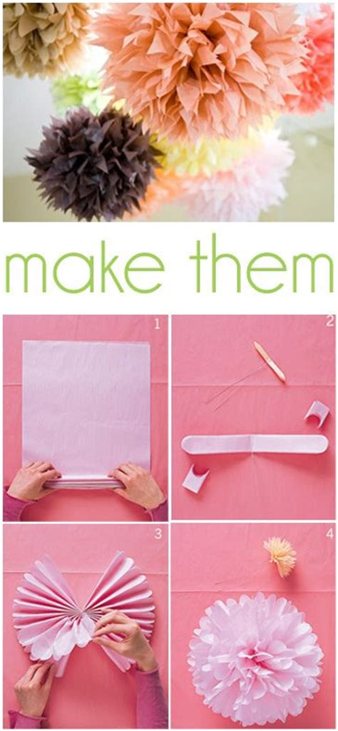How To Make Tissue Paper Poms - 1000 ideas about tissue paper poms on tissue