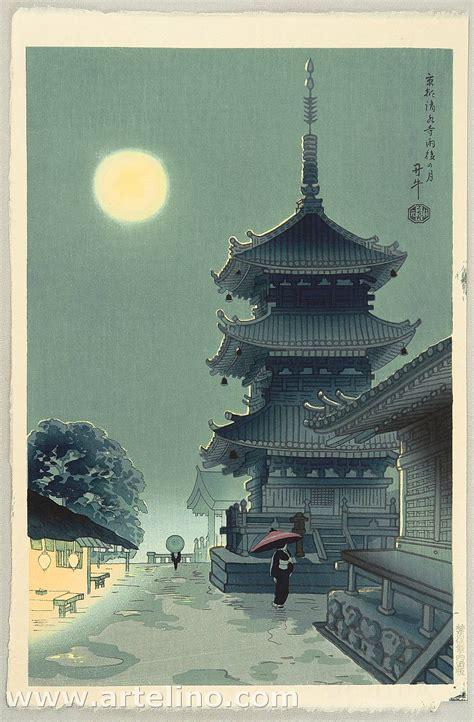 asada benji moon at kiyomizu temple artelino ukiyo e