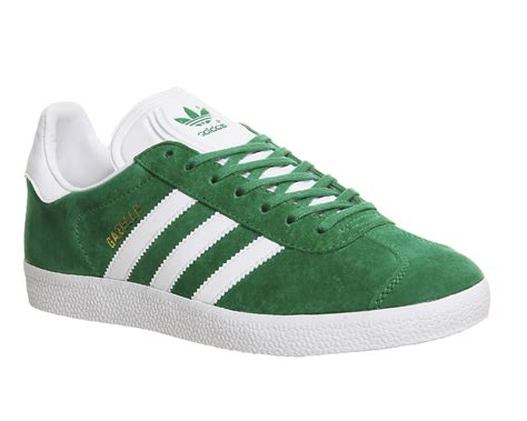 adidas gazelle green white trainers shoes ebay