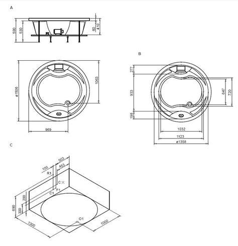 dimensione vasca idromassaggio vasca idromassaggio circolare 150 da incasso 8 getti hd