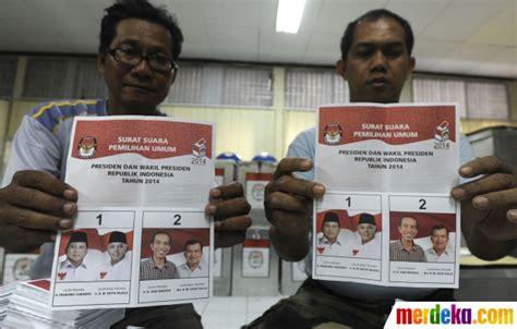 foto 8 juli surat suara pemilu mulai didistribusikan merdeka