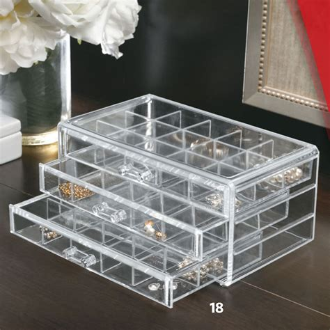 acrylic makeup organizer drawers in cosmetic organizers