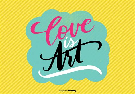 hand lettered love  art vector   vector art stock graphics images
