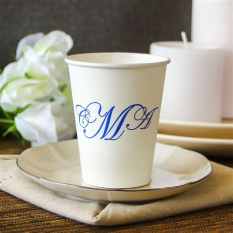 Papercup Wedding personalized wedding paper cups
