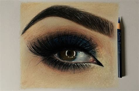 realistic eye realistic eye from brown drawing www imgkid the image kid has it