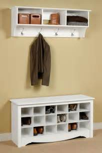 Entry Way Shoe Rack by Entryway Wall Mount Coat Rack W Shoe Storage