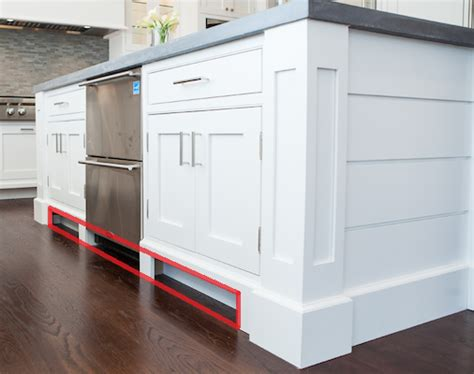toe kick kitchen cabinets how to build a kitchen island