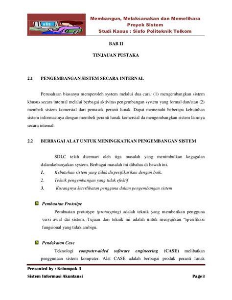 format penulisan makalah studi kasus makalah sistem informasi akuntansi proyek sistem studi