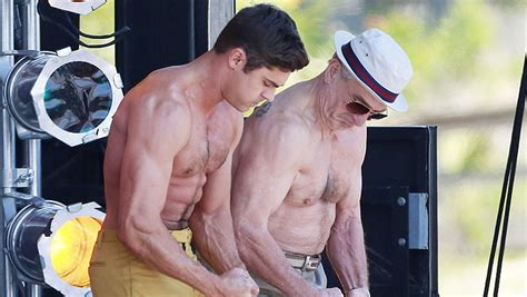 zac efron training zac efron looks shredded after training with the rock