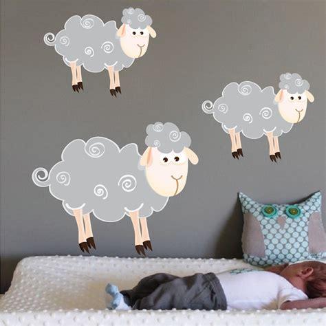 sheep nursery decor sheep wall decals nursery wall decal murals