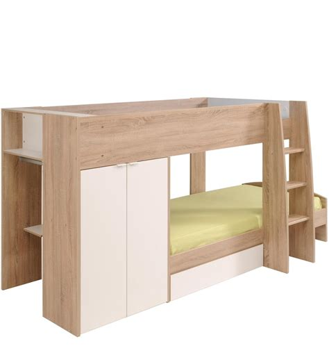 Oak Mid Sleeper Bed by Buy Mcryan Midsleeper Bunk Bed In Oak White Finish By