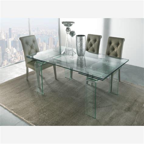 tavolo quadrato allungabile design tavolo allungabile cristallo miniglass3