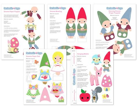 printable paper gnomes printable gnome games printables pinterest gnomes