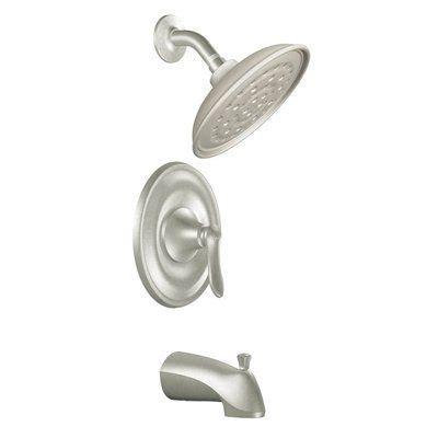 moen quinn kitchen faucet moen 82355srn quinn single handle tub and shower faucet w