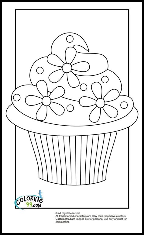 preschool coloring pages cupcakes 17 best muffin images on pinterest coloring books