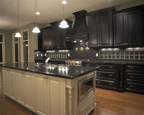 Black Kitchen Cabinet by Black Kitchen Cabinets With Gold Hardware Black Kitchen