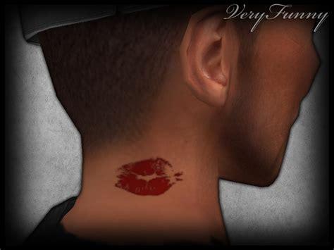tattoo neck kiss vf tattoo neck kiss